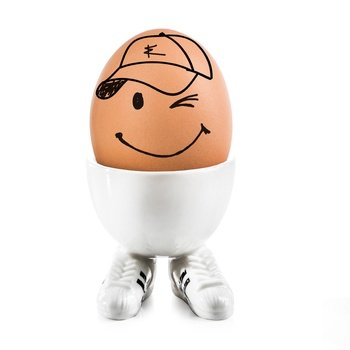 Preisvergleich Produktbild Donkey Products Funky Egg Cups Eierlauf Eierbecher Sneaker Porzellan