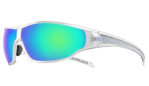 Adidas - TYCANE L A191, Sportbrille, allgemein, Herrenbrillen, SHINY CRYSTAL/BLUE MIRROR cat.3(6066)