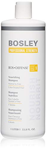 BOSLEY by BOS DEFENSE NOURISHING SHAMPOO NORMAL TO FINE COLOR TREATED HAIR 33.8 OZ by BOSLEY