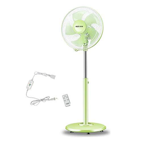 HH- Ventilator Standventilator Fan Ventilatoren Grüner Stehender Bodenventilator Mit Fernbedienung Ped 12 Zoll Standventilator Leiser Betrieb,90 ° Oszillation , Höhenverstellbar