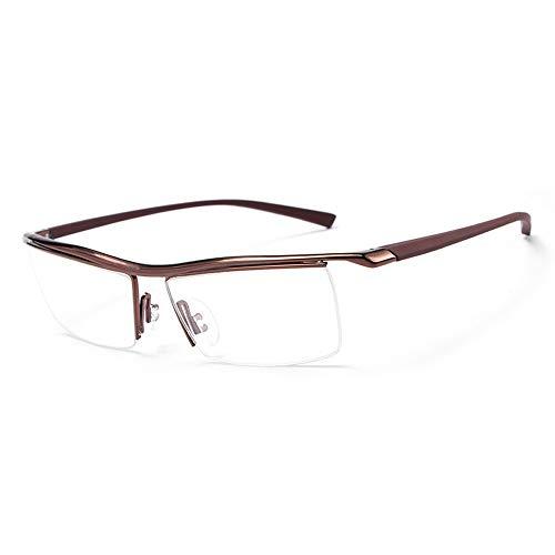 Gläser Klassische Kunststoff optische optische Myopie Brillengestell flach Licht kann mit blauem Licht ausgestattet werden unisex (Color : Braun, Size : Kostenlos)