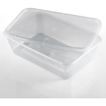 AVEC COUVERCLE À CHARNIÈRE contenance LOT DE 100 BARQUETTES FROIDES 5 cristal