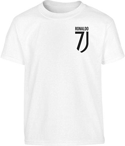 Maglietta per Fans Ronaldo Maglia T Shirt Juventini Cristiano Bambini Ragazzi