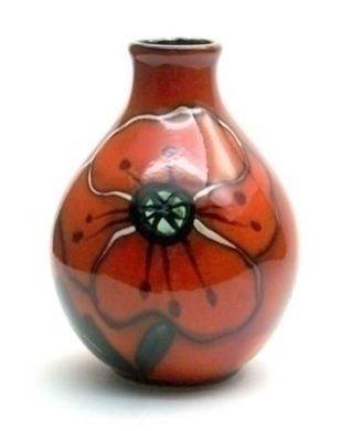 Poole Pottery Poppy Field Bud Vase 12.5cm