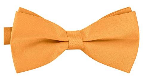BomGuard matte Fliege für Herren gelb I Männer Fliege für Hochzeit, Party oder edele Anlässe I Trendy Bow Tie I Schleifen Fliege nichtglänzend