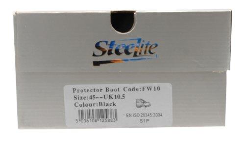 Steelite? Protector Sicherheitsstiefel S1P, Farbe: Black, Größe: 45 - FW10BKR45 Noir - noir