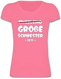 Geschwisterliebe Kind - Einzelkind Große Schwester 2019 - Mädchen T-Shirt
