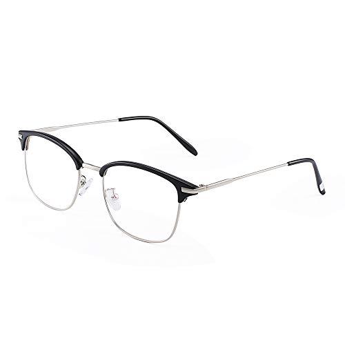 JM Vintage Halb-Randlos RX-fähig Brillen Metall Optische Gläser -