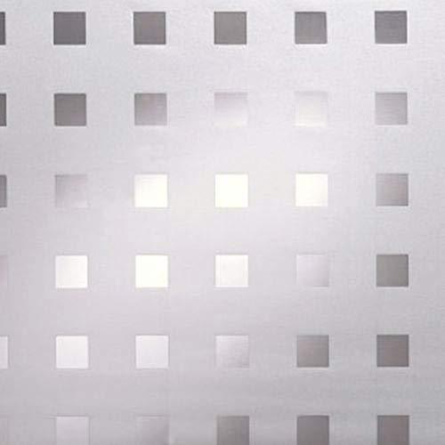 Rohr-Trading.SURFACES Fensterfolie I Sichtschutzfolie I Milchglasfolie I statisch haftende Folie für Fenster I Sonnenschutz I inkl Filzrakel I Quadrate I Vierecke I Gitter - Caree [150 x 90cm]