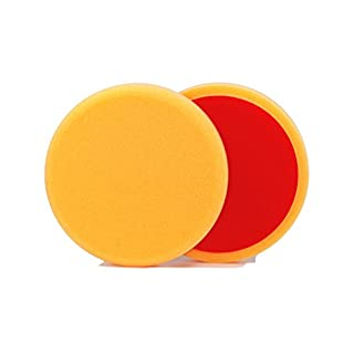 ALCLEAR 5513530AH Polierpad gegen Hologramme, Durchmesser : 135 x 25 mm, orange,2er Set