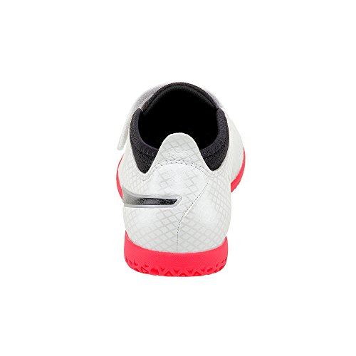 Puma One 17.4 It V Jr, Chaussures de Football Mixte Enfant Blanc (White-black-fiery Coral)