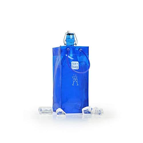 Ice bag 1 Bouteille Cave à vin Lot de 6, PVC, Français Bleu, 12 x 12 x 26 cm