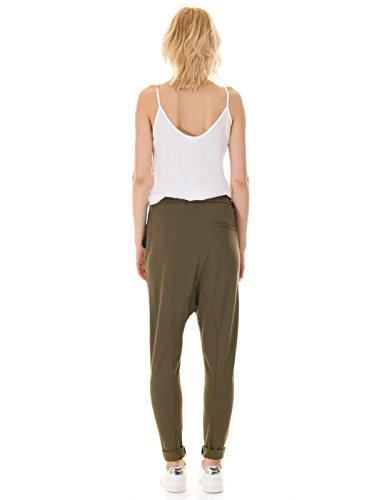 Khaki baggy pants by Vila Clothes Khaki Green