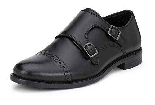 Saddle & Barnes Men's Leather Monk Stra...