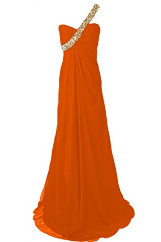 Sunvary 2014, spalle Sweetheart Chiffon Prom Party Gowns Orange