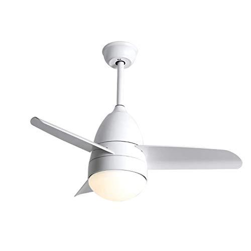Deckenventilator Licht mit Fernbedienung/Dimmbar/Schlafzimmer Ventilator Licht / 3ABS Lüfterblatt/moderner Esszimmer Wohnzimmer Fan Kronleuchter(90cm)