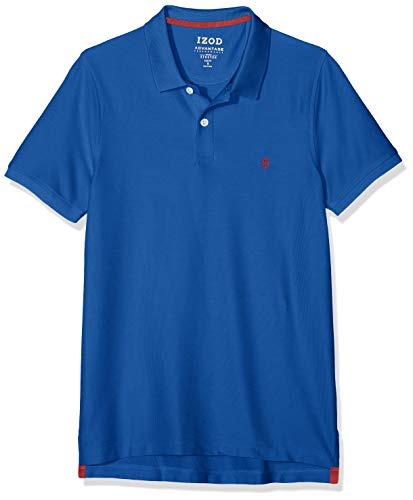 Izod Herren Performance Pique Polo Poloshirt, Blau (True Blue 426), Medium (Herstellergröße: MD) -