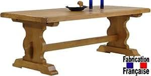 Table monastère 1.80 m chêne Bastide