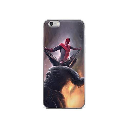 iPhone X/XS, XR, XS Max, 7/8, 7 Plus/8 Plus, 6/6S, 6 Plus/6S Plus Coque Transparente Anti-Choc Spiderman Vs Venom Fight iPhone 6 / 6s Transparent