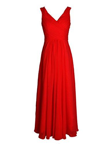 Dresstells, Robe de soirée de mariage/cérémonie/demoiselle d'honneur forme princesse col V longueur ras du sol Blush
