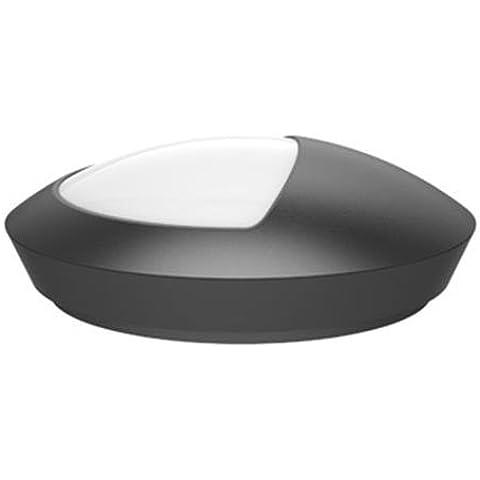 V-TAC VT-8009 12 W Ip66 LED 4500 K media de cúpula de Oval luces, negro