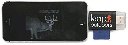 Leap Outdoors Trail Kamera mit Nachtsicht, Bewegungsaktivierung, Wildkamera, 12 MP, 1080P, Full HD, Jagdkamera, 26 Stück IR LED, 120° Weitwinkel, Camo wasserdicht, Infrarot Game Cam 2.0, Device Only Camo-video-kameras