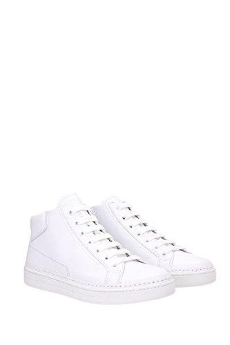 4T2863BIANCO Prada Sneakers Homme Cuir Blanc Blanc