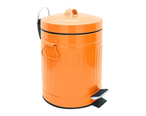 SANWOOD Cubo de Basura para baño Oscar, Referencia 1008208, con Pedal y Dispositivo de Descenso automático...