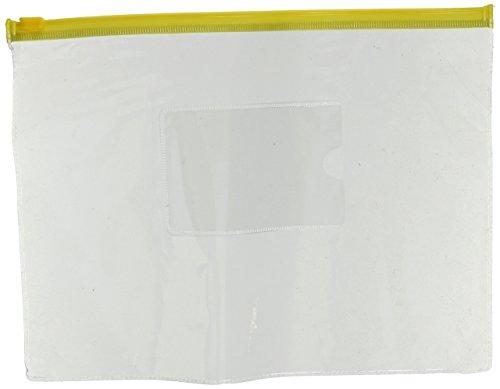 uxcell Kunststoff Schule Zip Up Tasche Datei A5Papier Storage Organizer, gelb, 12Stücke, (a15121500ux0459) (Datei-ordner Receipts)