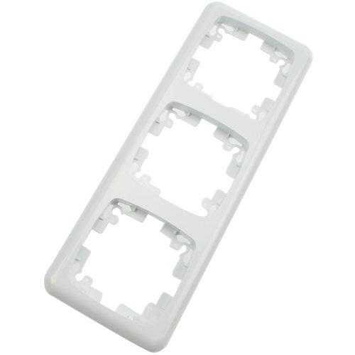 Arcas Abdeckrahmen Elegance W13-Y003 3-fach, weiß, 1 Stück, 98700015 (Elegance 3 Stück)