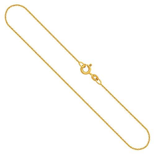 Goldkette, Ankerkette rund Gelbgold 333/8 K, Länge 50 cm, Breite 1.1 mm, Gewicht ca. 1.7 g, NEU