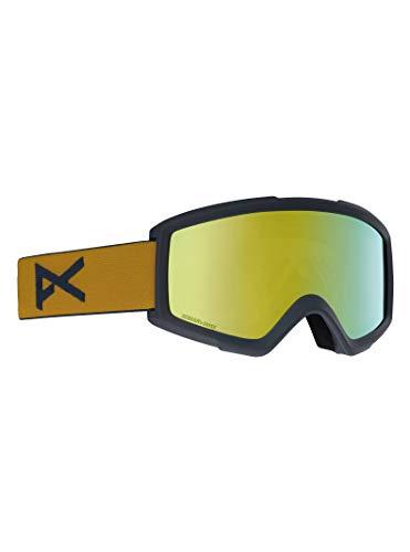 Anon Herren Helix 2 Sonar with Spare Snowboardbrille, Mustard Bronze