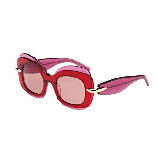 Pomellato pm0001s 005, occhiali da sole donna, rosa (005-fuchsia/red), 49