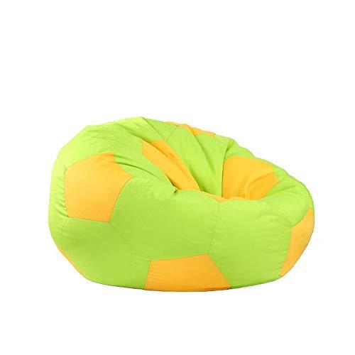 Maatchh comodo divano per bambini pallone da calcio big joe bean bag chair (colore : verde, dimensione : 80cm)