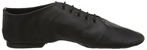 Starlite Effect Split Rubber Sole Jazz-Schuhe Schwarz