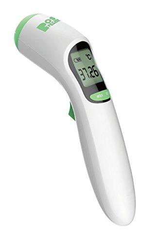 Boston Technology BA-101 - Termometro per bambini digitale infrarossi. Misurazione sulla fronte e sulla superficie degli oggetti.