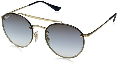 Ray-Ban Unisex-Erwachsene 0RB3614N Sonnenbrille, Braun (Demi Gloss Gold), 54