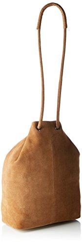 SELECTED FEMME Damen Sfcamille Suede Bucket Bag Ex Schultertasche, Einheitsgröße Braun (Cognac)