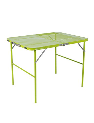 Outdoor Portable Multi-Fonction Table Pliante Picnic Zinc Alliage Table Vert