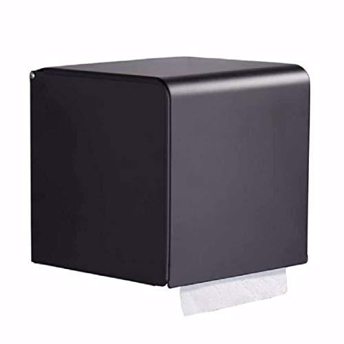 Wand-wc-papierhalter (Ruixinshi Platz Wasserdichte Aluminium WC-Papierhalter Bad schwarz Punch-freie Hand Fach Badezimmer Wand- Gewebe,EIN)