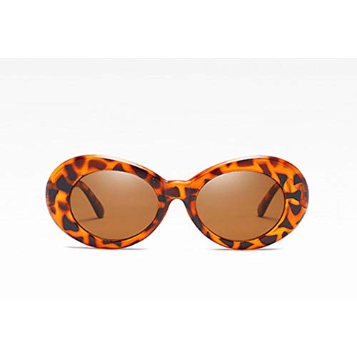 YSFU Sonnenbrillen Frauensonnenbrille Kleine Runde Art Und Weisesonnenbrille Rosarote Brille Uv400-Brille