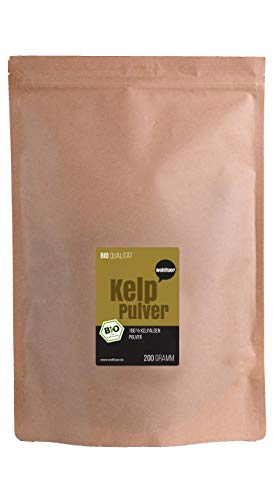 Wohltuer Bio Kelp Pulver | Kelp Algenpulver | Natürliche Jodquelle | Smoothie Pulver 200g -