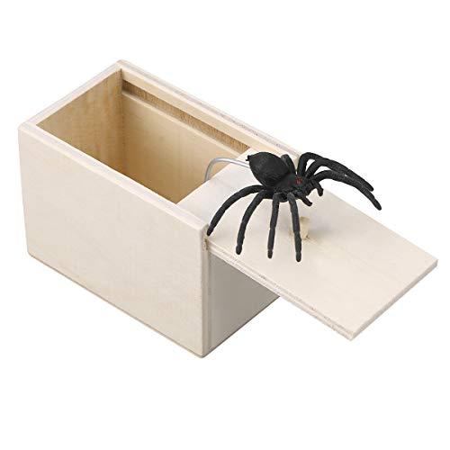 rak Holzkiste lustige heikles Spielzeug Schock Witz Spinne Spielzeug für Erwachsene Kind ()