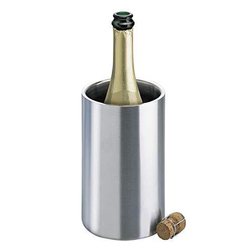Isosteel VA-9568 Flaschenkühler aus doppelwandigem 18/8 Edelstahl mit matt gebürsteter Außenoberfläche - Temperatur-wein-kühler