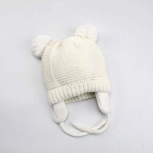 Kostüm Schwimmen Quicksilver - GUOSH Herbst Und Winter Kinder Wollmütze Sowie Samt Gestrickte Ohrenschützer Kalte Warme Babymütze Weiß