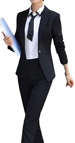 chenshijiu Women's 2 Piece Slim Suits Set Business Office Lady Blazer Jacket Pants