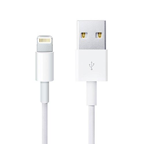 moodie Ladekabel für iPhone 7 - Qualitäts Lightning Kabel weiß - Datenkabel mit USB-Anschluss für Apple iPhone 7/7 Plus/iPhone 6S / 6S Plus (1m Länge) Ipod Nano Remote