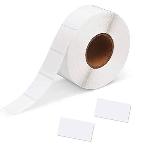 Yotino 1000 pezzi etichette adesive bianche, 30 * 60mm etichette autoadesive bianche su rotolo, etichette impermeabili adesive rimovibili contrassegni