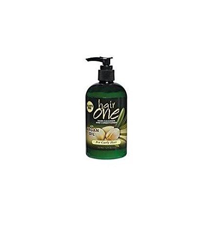 Cheveux Un nettoyant et revitalisant à l'huile d'argan pour les cheveux bouclés 12 oz