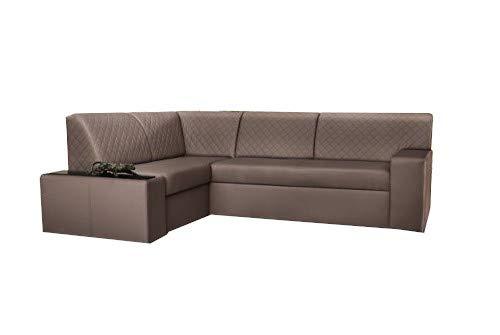 mb-moebel Ecksofa Sofa Eckcouch Couch mit Schlaffunktion und Bettkasten Ottomane L-Form Wohnlandschaft Jacob